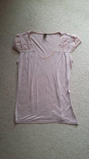 s.OLiver Shirt, rosè, Stickerei an den Ärmeln