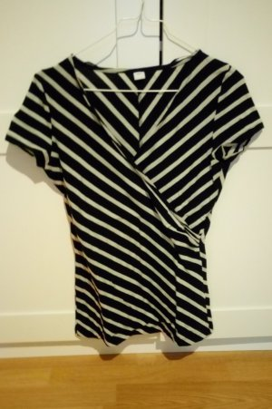S.Oliver Shirt Top T-Shirt schwarz creme, Gr. S