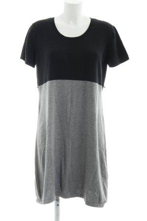 s.Oliver Shirtkleid hellgrau-schwarz schlichter Stil