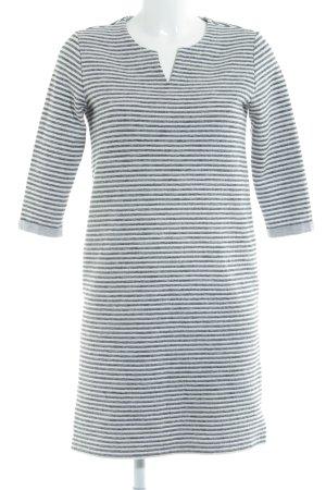 s.Oliver Robe t-shirt blanc-gris clair motif rayé style décontracté