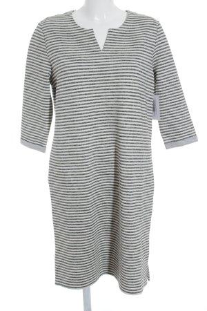 s.Oliver Shirtkleid wollweiß-dunkelgrau Streifenmuster schlichter Stil