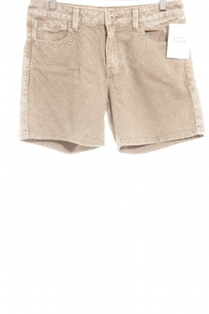 s.Oliver Shorts hellbraun-creme Washed-Optik