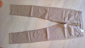 s.Oliver Pantalone cinque tasche color cammello-marrone chiaro Cotone