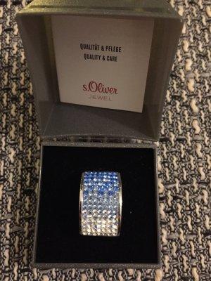s.Oliver Zilveren ring veelkleurig