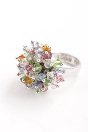 s.Oliver Zilveren ring veelkleurig extravagante stijl