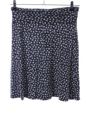 s.Oliver Skater Skirt black-white allover print casual look