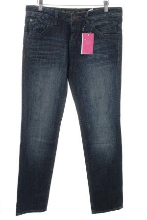 s.Oliver Skinny Jeans dunkelblau-graublau Webmuster Casual-Look