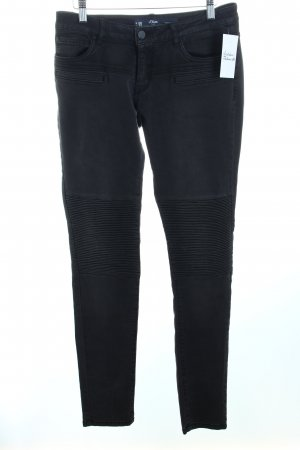 s.Oliver Skinny Jeans dunkelgrau Casual-Look