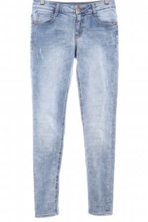 s.Oliver Slim Jeans blassblau Used-Optik