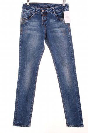 s.Oliver Slim Jeans blau Destroy-Optik