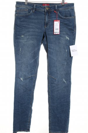 s.Oliver Slim Jeans blau Jeans-Optik
