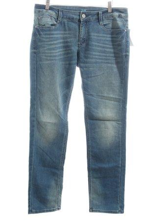 s.Oliver Slim Jeans blau Street-Fashion-Look