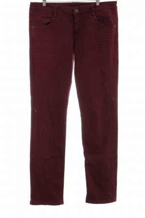 s.Oliver Slim Jeans bordeauxrot Casual-Look