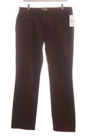 s.Oliver Slim Jeans bordeauxrot schlichter Stil
