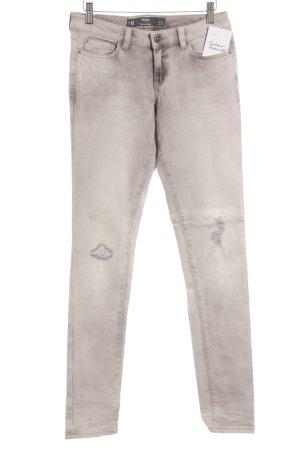 s.Oliver Slim Jeans creme-hellgrau Casual-Look