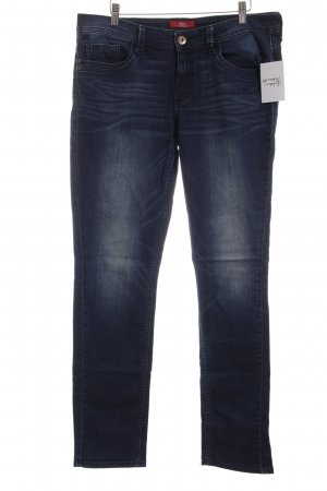 s.Oliver Slim Jeans dunkelblau-blau Casual-Look