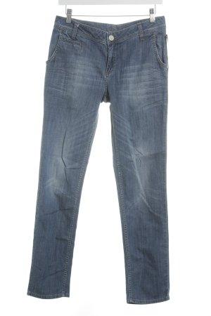 s.Oliver Slim Jeans dunkelblau-wollweiß Casual-Look