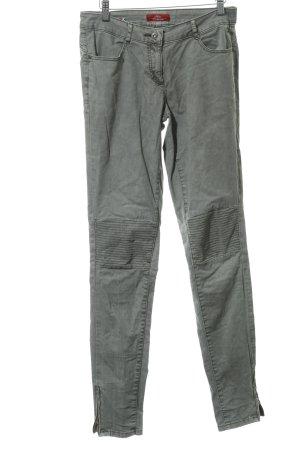 s.Oliver Slim Jeans khaki-graugrün Reiter-Look