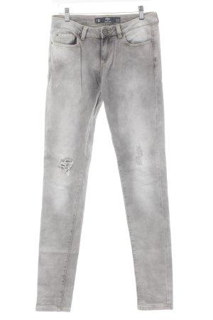 s.Oliver Slim Jeans mehrfarbig Used-Optik
