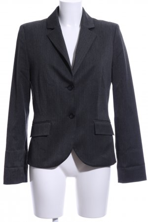 s.Oliver Tuxedo Blazer light grey striped pattern business style