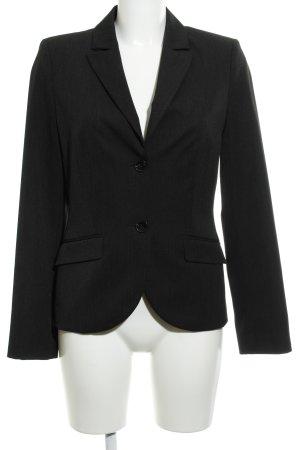 s.Oliver Blazer de esmoquin negro-gris elegante