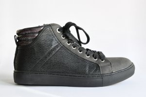 s. Oliver Sneaker high Lederimitat / Lederoptik schwarz grau Gr. 40