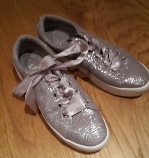 S Oliver Sneakers Turnschuhe silber Gr. 38/39 wie neu Glitzer