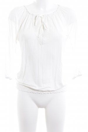 s.Oliver Blusa in merletto bianco sporco stile casual