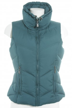 s.Oliver Quilted Gilet petrol casual look