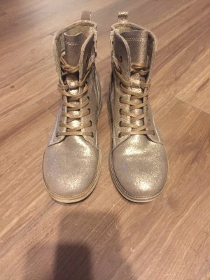 s.Oliver Lace-up Booties gold-colored