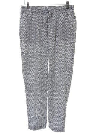 s.Oliver Stoffhose schwarz-weiß abstraktes Muster sportlicher Stil