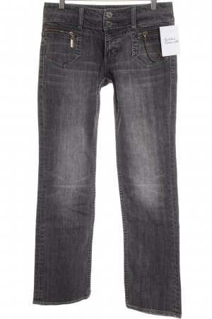 s.Oliver Straight-Leg Jeans anthrazit-weiß Street-Fashion-Look
