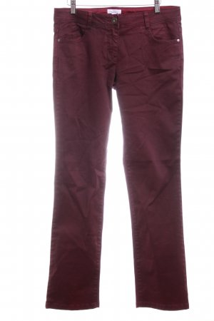 s.Oliver Straight-Leg Jeans bordeauxrot Casual-Look
