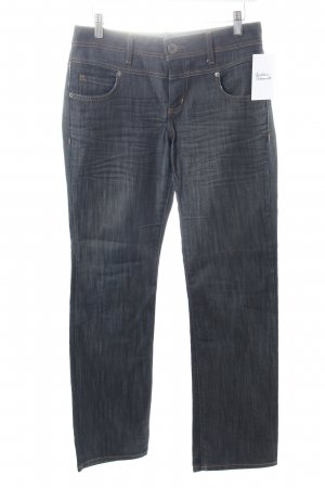 s.Oliver Straight-Leg Jeans dunkelblau meliert Casual-Look