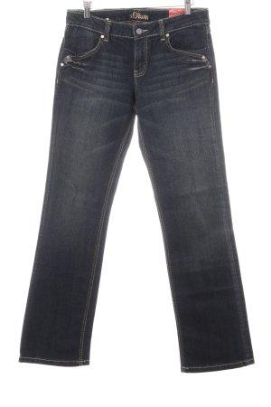 s.Oliver Straight-Leg Jeans dunkelblau Retro-Look