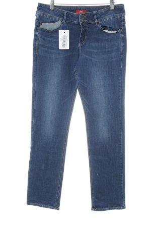 s.Oliver Straight-Leg Jeans dunkelblau-stahlblau Casual-Look