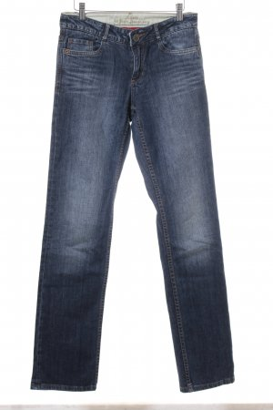 s.Oliver Straight-Leg Jeans dunkelblau-wollweiß Washed-Optik
