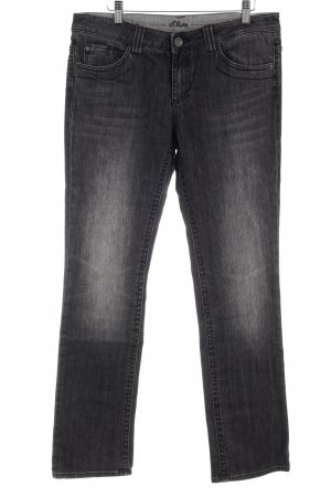 s.Oliver Straight-Leg Jeans dunkelgrau Casual-Look