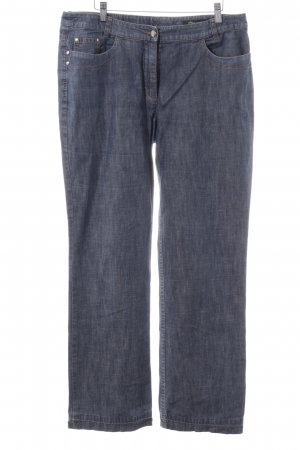 s.Oliver Straight-Leg Jeans blau meliert Casual-Look