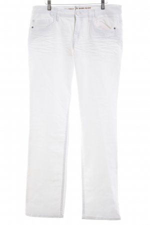 s.Oliver Jeans a gamba dritta bianco stile casual