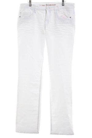 s.Oliver Jeans met rechte pijpen wit casual uitstraling