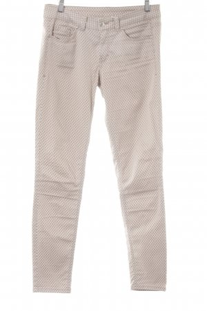 s.Oliver Stretchhose beige-creme grafisches Muster Casual-Look