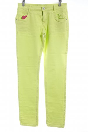 s.Oliver Stretch Trousers neon yellow casual look