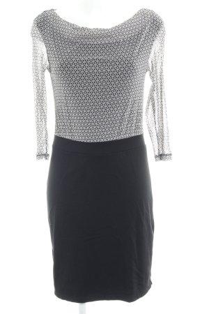 s.Oliver Stretchkleid schwarz-wollweiß abstraktes Muster Elegant