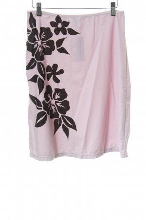 s.Oliver Stretchrock blasslila florales Muster Romantik-Look