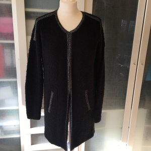 s.Oliver Gebreide jas zwart Wol