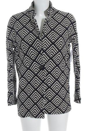 s.Oliver Strickblazer schwarz-weiß abstraktes Muster Casual-Look