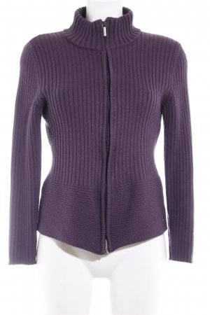 s.Oliver Strickjacke braunviolett Casual-Look