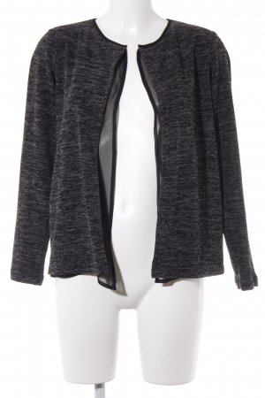 s.Oliver Strickjacke hellgrau-anthrazit meliert Casual-Look