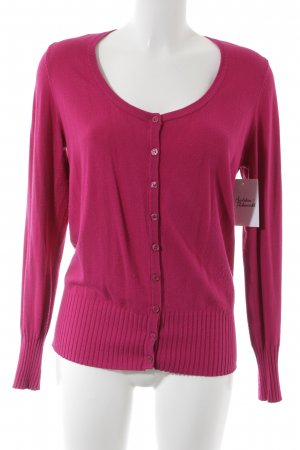 s.Oliver Strickjacke magenta Casual-Look